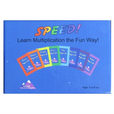 speed multiplication card game