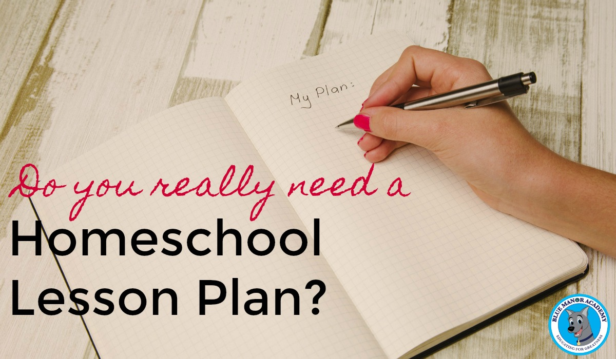 Do you need a homeschool lesson plan